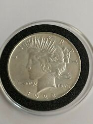 1922 Doubled Motto/date/maker Mark Vam 4 Top 50 Peace Silver One Dollar Coin