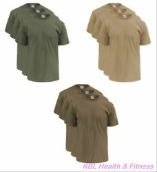 Soffe 3-pack Ocp Menand039s T-shirts - 50/50 Cotton Poly - M280 Olive Sand Or Tan