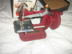 Vintage Childs Sewing Machine Stitch Mistress In Orig Box W/instructions