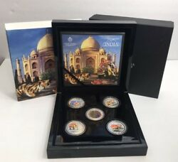 2013 The East India Company London Treasures Of India Silver Proof 5 Coins Set