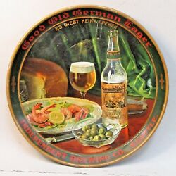 Circa 1910 Independent Brewing Old German Lager Seattle 12 Beer Tray