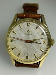 Fine And Rare Gold On Steel Honeycomb Dial Omega Watch. Cal 283. Ref 2640-7sc