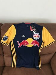 Adidas New York Red Bulls Mls Soccer Jersey New With Tags Size Xl Youth