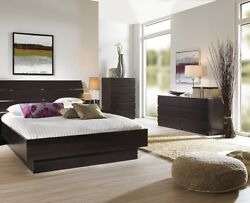 Brown 3 Piece Queen Bed Furniture Set Dorm Bedroom Home Living Decor 2-Dressers