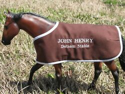 JOHN HENRY embroidered blanket Breyer thoroughbred race horse