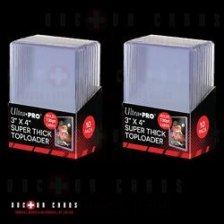 Ultra Pro 130pt - 10 Pack Box X2 = 20 Toploaders For Thick Cards 🆓 Shipping �