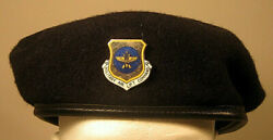 Us Air Force Security Police Military Airlift Command Mac Crest Badge Beret Rare