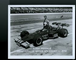 Vintage 1972 8x10 Officia Motor Speedway Photo Race Car Indy 500 Mark Donohue