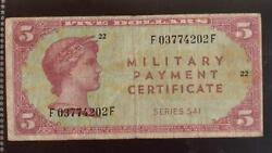 Military Payment Certificate   Mpc Series 541 5   Bin Rc13494