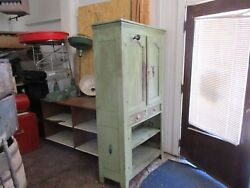 Primitive Cabinet The Real Deal Funky Green With Extraand039s