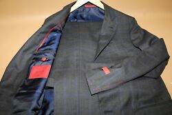 213 3895 Isaia And039sanitaand039 Plaid Fabric Suit Size 38 R