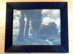 Taber-prang Art Co Woods W Stream And Billowing White Clouds Scenic Print 1905