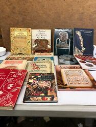 Large Book Lot Needlework Embrodery Knitting Antique Lot Of 15 Different Books