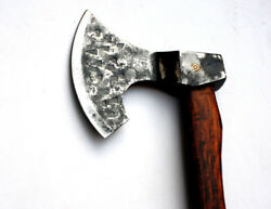 Hand Forged From 1085 Leaf Spring Steel Paran Style Viking Replica Tomahawk
