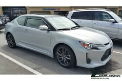Eos Visors For 11-16 Scion Tc Smoke Tinted Jdm In-channel Window Deflectors