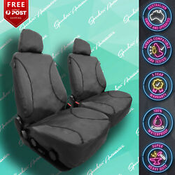For Jeep Wrangler Strong Canvas All Over Waterproof Grey Car Front Seat Covers