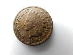 1894 Indian Head Penny Cent, Xf Details  Q38