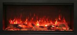 42 Extra Tall Clean Face Symmetry Electric Fireplace W/birch Logs