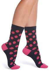 Paul Smith Women's Faye Shadow Spot Socks in NavyPink One Size Italy NWT