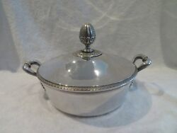 1819 French Sterling Silver Covered Vegetable Dish Empire St Vieillard Meurice