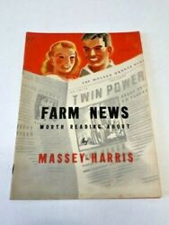 1938 Farm News Worth Reading About By Massey Harris Brochure