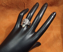 Daisy By Paye And Baker Welo Opal Sterling Spoon Ring Hand Made Sz 8 1/2
