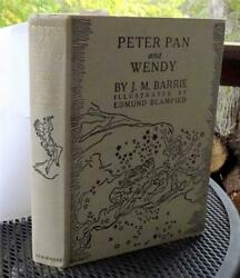 PETER PAN AND WENDY~ EDMUND BLAMPIED 1st US ed 1940 w/DJ ~ Excellent Example