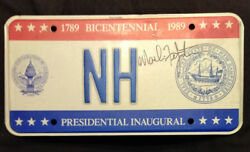 1989 District Of Columbia Inaugural Nh With Seal Of New Hampshire License Plate