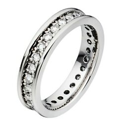 Chopard Platinum Full Diamond Wedding Band Ring 82/7338 New With Box And Papers
