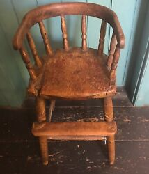 Antique Windsor High Chair From New England