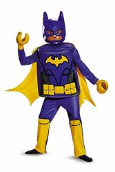 Purple Batman Girls Childrens 6 Piece Halloween Costume Lego Batman Movie Kids