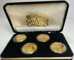 Elvis Presley Limited Edition Coin Set Grand Casino 4 Coins With 1998