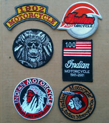 6x Indian Motorcycle Us Flag 100 Years 1901-2001 Anniversary Patches Biker
