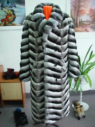 BRAND NEW RANCHED CHINCHILLA FUR COAT JACKET MEN MAN