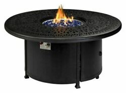 52 Monarch Series Round Fire Table W/ Built-in Burner Accessory