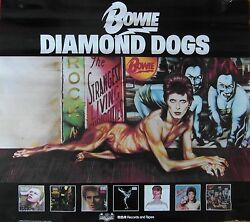 Original 1974 Rca David Bowie And039diamond Dogsand039 Promotional Poster