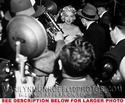 Marilyn Monroe Mobbed By The Press 1 Rare 8x10 Photo