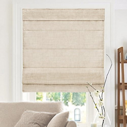 CHICOLOGY Cordless Roman Shades Soft Fabric Window Blind Belgian Flax Privacy