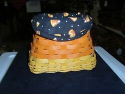 Longaberger Liner ONLY CANDY CORN BLACK 2016 2010 quot;CANDY CORN quot; Basket NEW