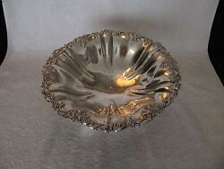 Antique French Sterling Silver 950 Fruit Bowl Center Piece Bunches Of Grapes