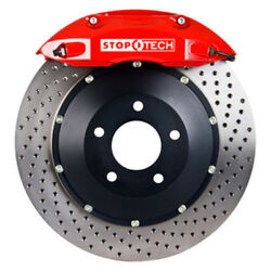 StopTech 08-09 BMW M3 (E92) V8 Rear 355x32 Red ST-40 Calipers Drilled RotorsPad