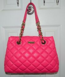 Kate Spade New York Gold Coast Small Maryanne Quilted Leather Bag Zinnia Pink
