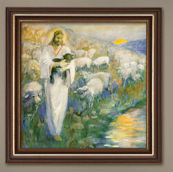 Rescue Of The Lost Lamb - Giclee Canvas Art Print - By Minerva Teichert