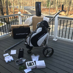 PORSCHE DESIGN OEMNEW GOLF PACKAGE WITH TROLLEY BAG UMBRELLA TOWEL + MORE!!
