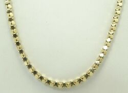 14k Yellow Gold 2.5mm Round Faceted Link Necklace 30.5 Inch 18.2 G D6027