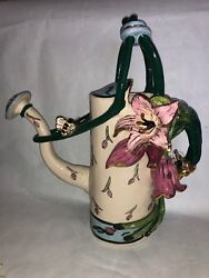 Blue Sky Clayworks Heather Goldminc Tulips For Spring Spouted Watering Can 16