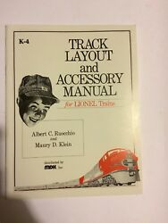 O Scale Book For Lionel Kline K-4 Track Layout And Accesory Operation Manuel New