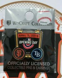 San Francisco Giants 2019 Opening Day Pin Tampa Bay Rays