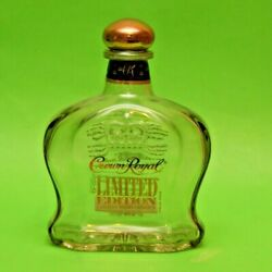 Empty Glass Art Bottle Canadian Whiskey Crown Royal Limited Edition