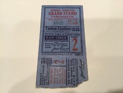 Babe Ruth Gehrig Hornsby 1926 World Series Ticket St. Louis Cardinals Yankees